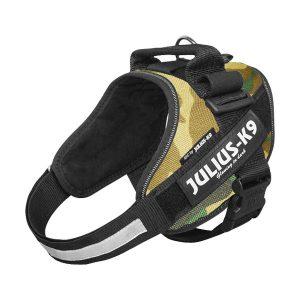 Julius K9 IDC powertuig camouflage baby 1 - maat 4 met tekstlabels die gepersonaliseerd kunnen worden door K9-Label